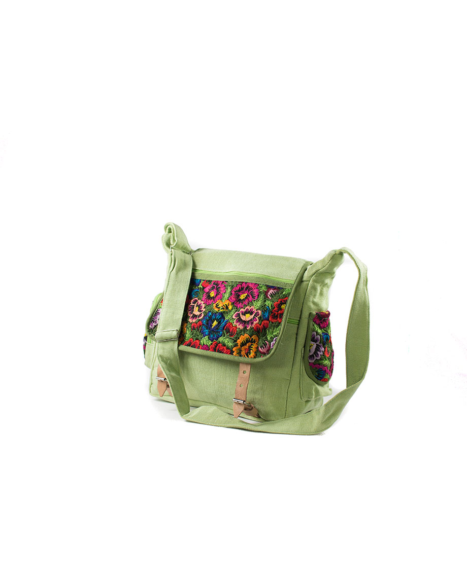 174c69fac3c Home / Mode / Tassen / Tas Mayablouse Leren Gespen Groen Bohemian Fair Trade